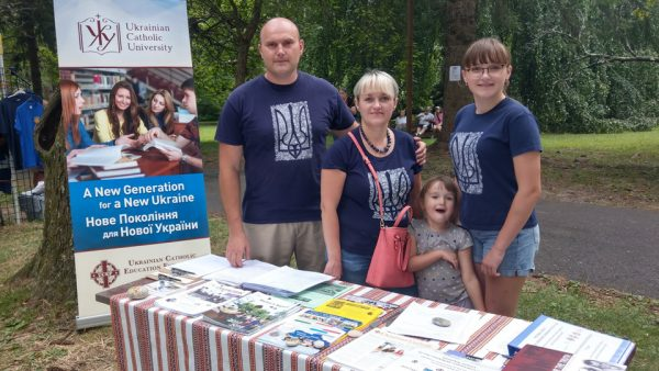 Two UCU graduates represent UCU and UCEF at the Ukrainian Festival in PA.