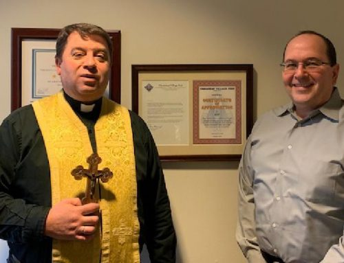 Seasonal Blessing of UCEF Office